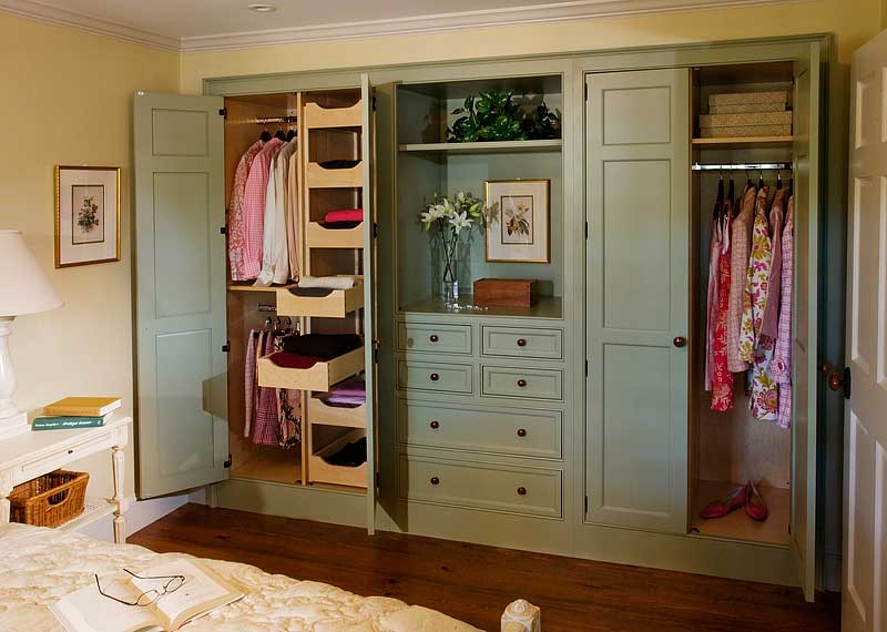 Custom handcrafted closet cabinetry by Crown Point Cabinetry