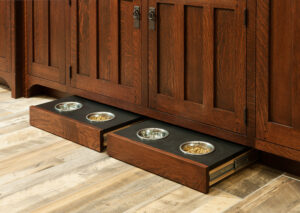 Toekick Drawer with Pet Food Dishes