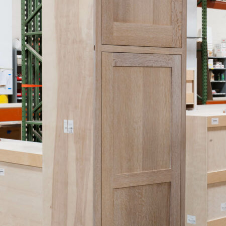 Tall Cabinet With Peg Rack - Left Side