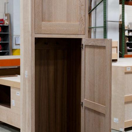 Tall Cabinet With Peg Rack - Bottom Door Open