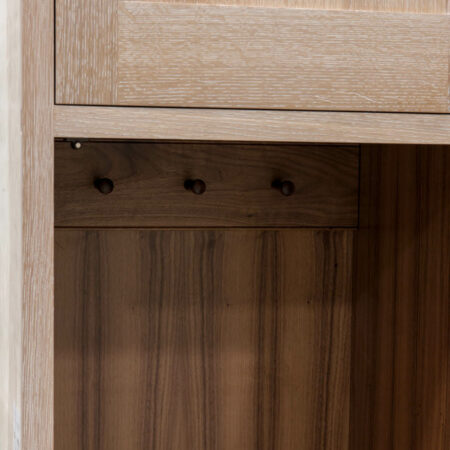 Tall Cabinet With Peg Rack - Peg Rack Detail