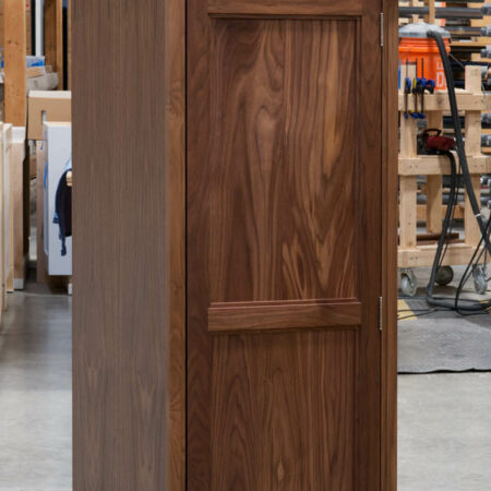 Tall Cabinet With No Mid Rail - Top Door Open