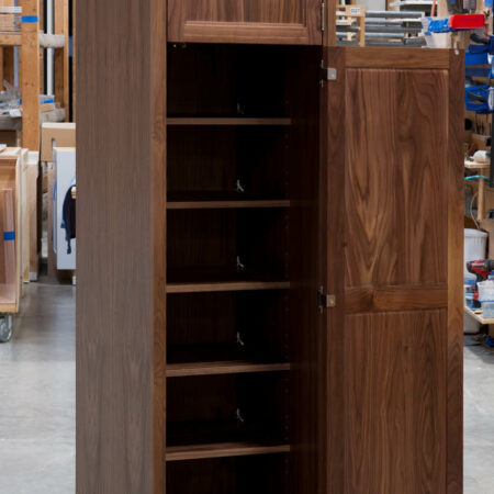 Tall Cabinet With No Mid Rail - Bottom Door Open