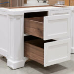 Island Cabinet - Left Bank of Drawers Open