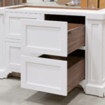 Island Cabinet - Right Bank of Drawers Open