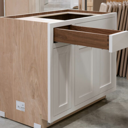 Sink Base with Roll Out Drawer - Top Drawer Open