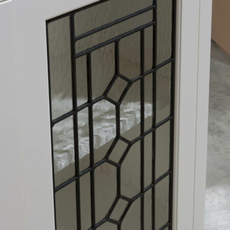 Wall Cabinet with Leaded Glass Doors - Detail View