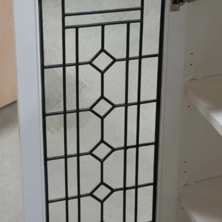 Wall Cabinet with Leaded Glass Doors - Back of Door