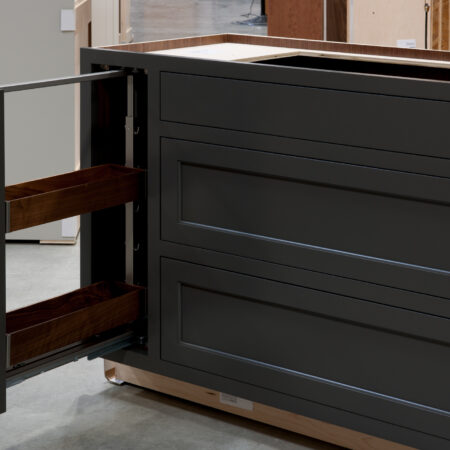 Two Drawer Base - Pan Storage and Pull Out - Pull Out Open