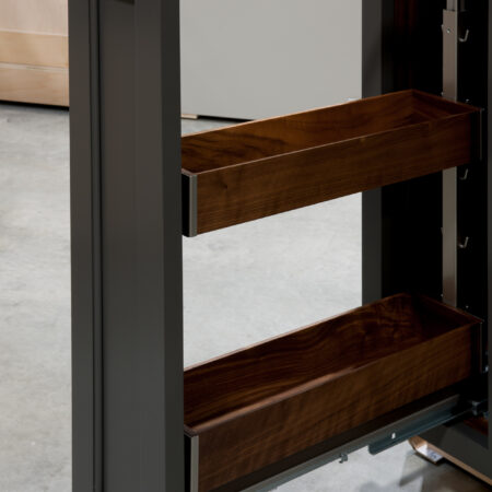 Two Drawer Base - Pan Storage and Pull Out - Pull Out Detail