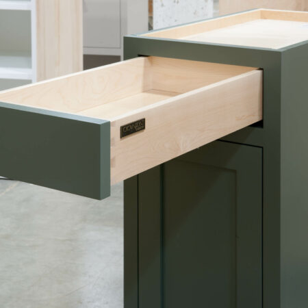 Base Cabinet with Tray Drawer - Drawer Open