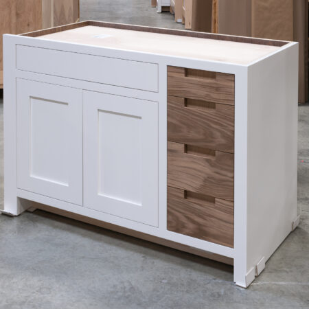 Base Cabinet With Drawer Fronts as Pullout Door - Right Side