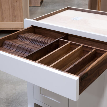 Base Cabinet With Drawer Fronts as Pullout Door - Drawer Open