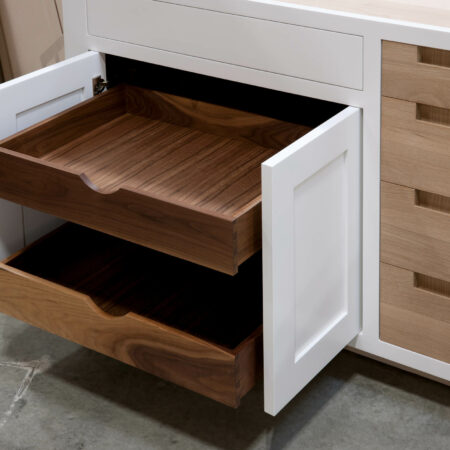 Base Cabinet With Drawer Fronts as Pullout Door - Doors Open