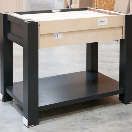 Four Post Base Cabinet - Back View