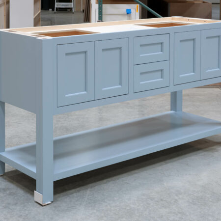 Four Post Sink Cabinet for Two Sinks - Left Side