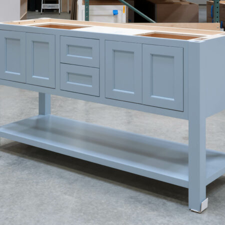 Four Post Sink Cabinet for Two Sinks - Right Side