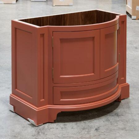 Curved Vanity Cabinet - Left Side