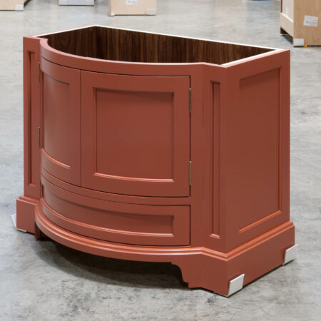 Curved Vanity Cabinet - Right Side