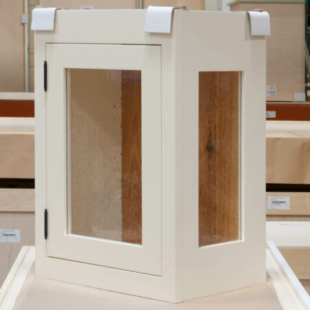 Small Wall Cabinet with Antique-Style Glass - Right Side