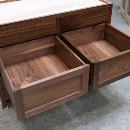Six Drawer Base Cabinet - Middle Drawers Open