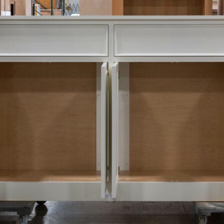 TV Lift Cabinet - Doors Open