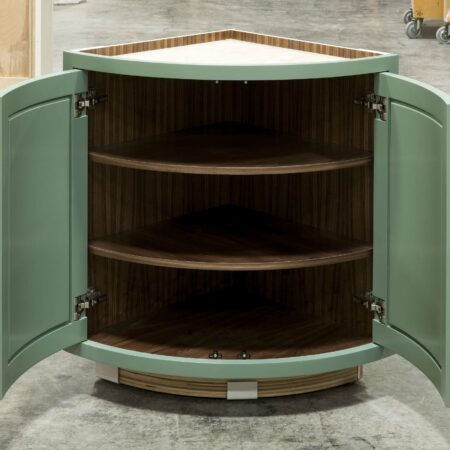 Curved Base Cabinet - Doors Open