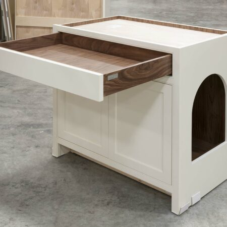 Base Cabinet with Pet Entrance - Drawer Open