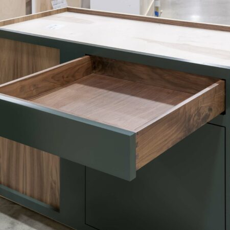 Blind Base Cabinet with Lemans Corner Pullout - Drawer Open