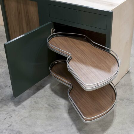 Blind Base Cabinet with Lemans Corner Pullout - Fully Open