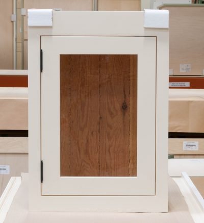 Small Wall Cabinet with Antique-Style Glass