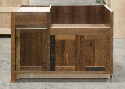 Reclaimed Hearty Hewn Oak Sink Base Cabinet
