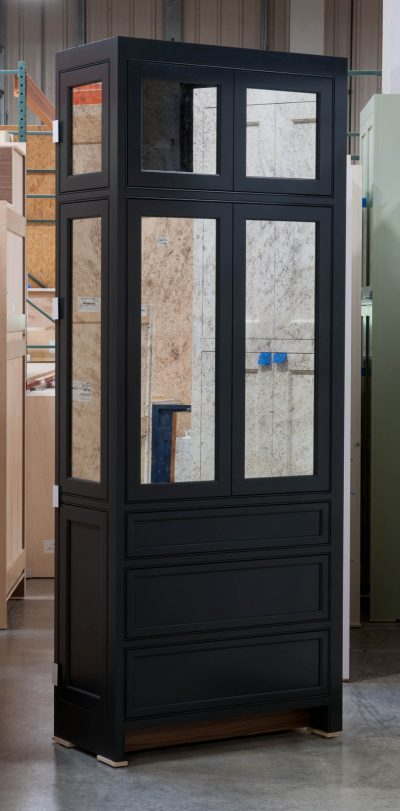 Tall Cabinet with Antique-Style Mirrors