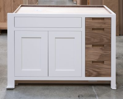 Base Cabinet With Drawer Fronts as Pullout Door