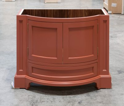 Curved Vanity Cabinet