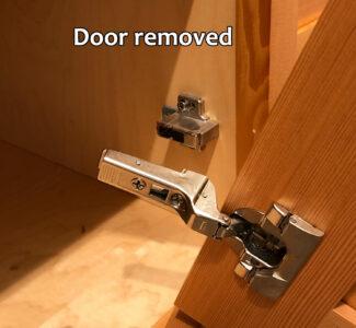 Blum hinge adjustment - Door removed