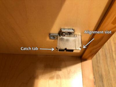 Blum hinge adjustment - Mounting base