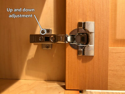 Blum hinge adjustment - Up and down adjustment