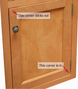 Top Corner of Door Sticks Out